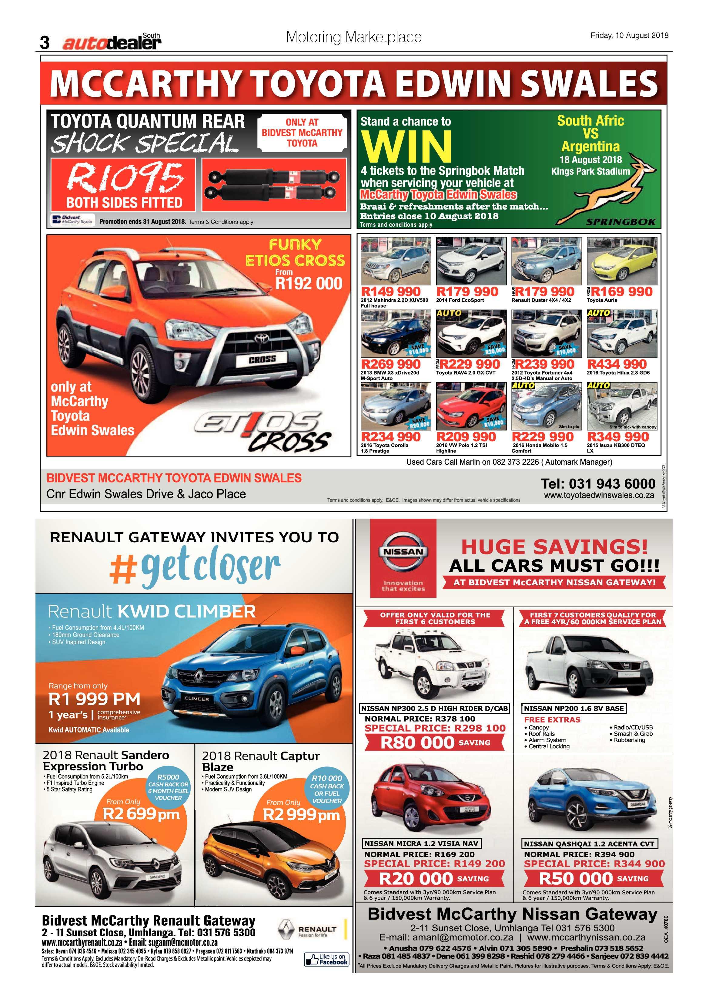 10 August 2018 | South Coast Sun  |10 August 2018