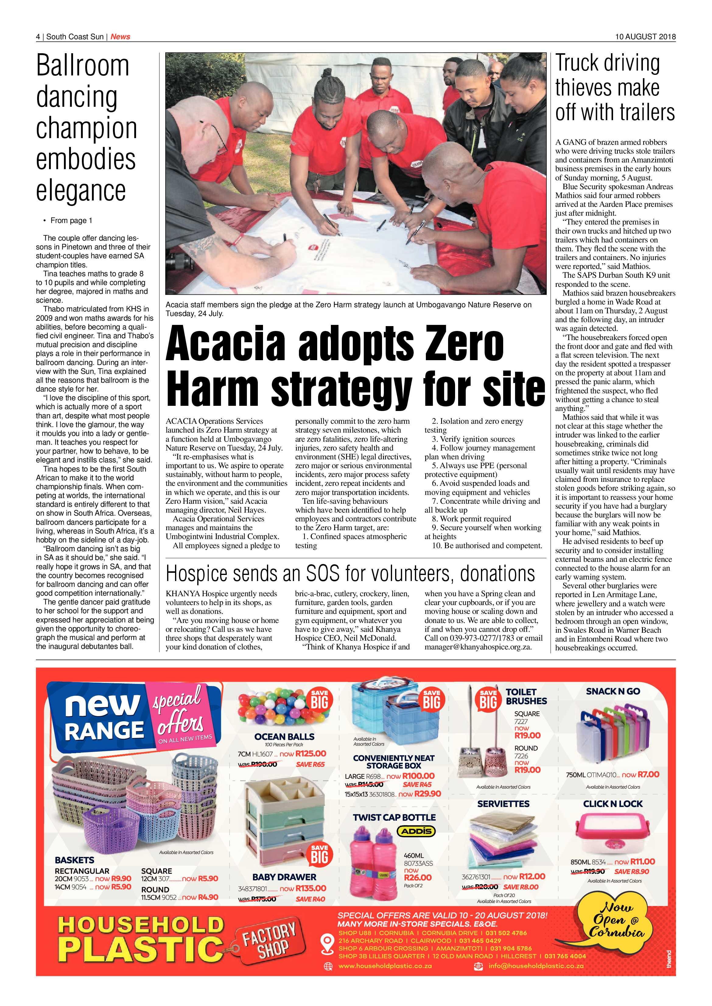 10 August 2018 | South Coast Sun  |10 August