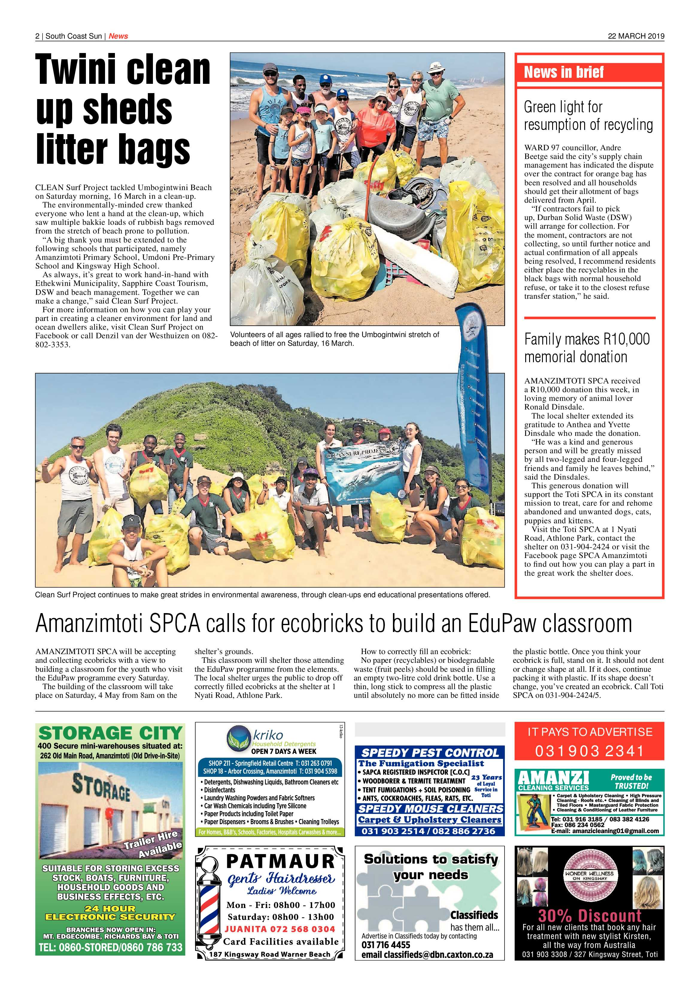 22 March 2019 | South Coast Sun