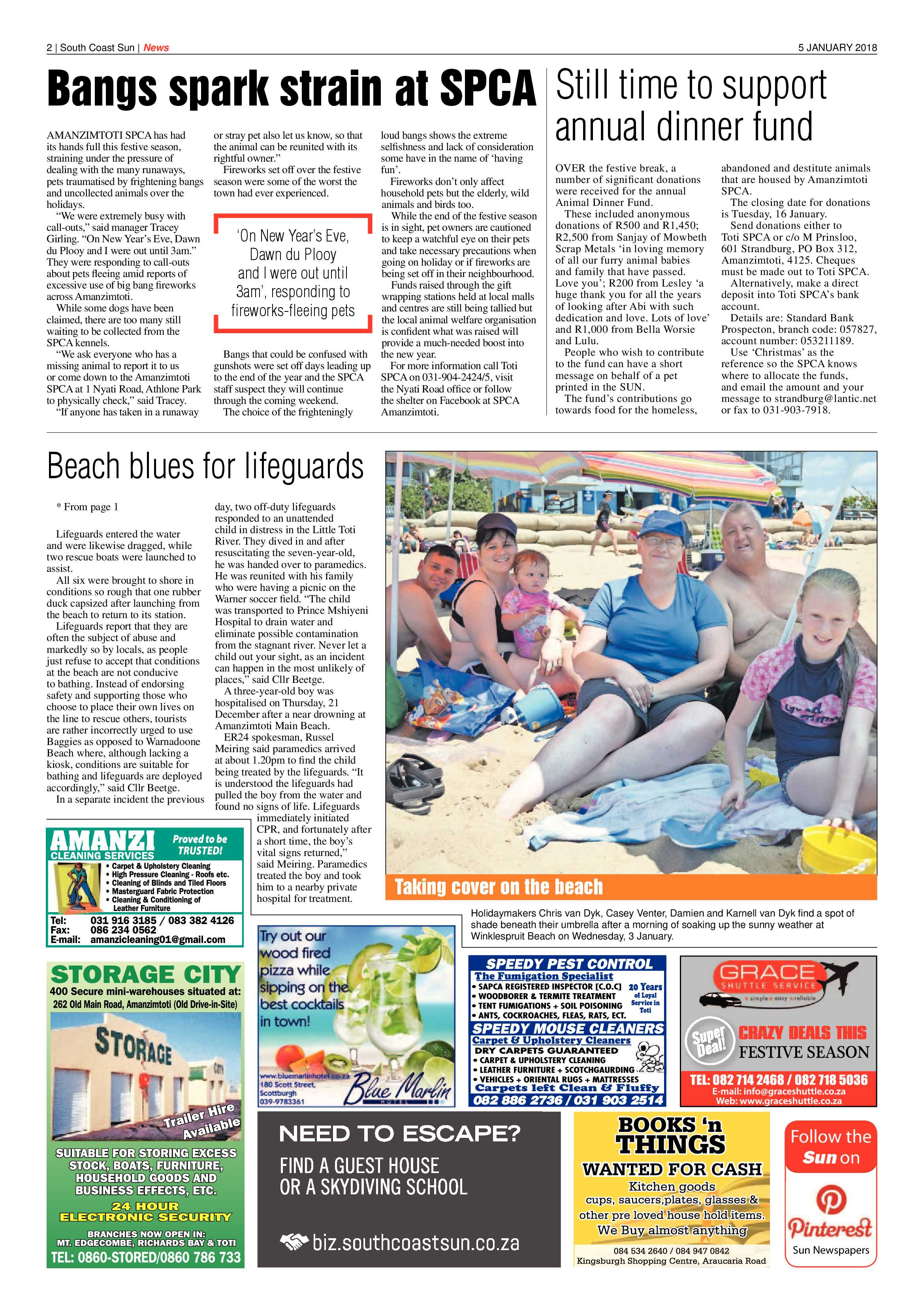 5 January 2018 | South Coast Sun